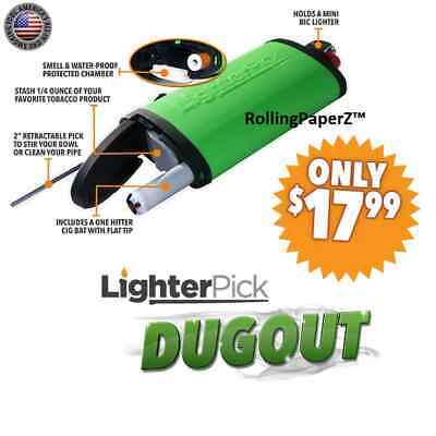 New! BLACK LIGHTERPICK Tobacco Dugout Smoking System - Water Tight & Smell Proof 2