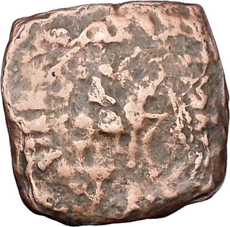 AZILISES 85BC INDO SKYTHIAN King on Horse Bull Ancient Greek Coin India i47125 2
