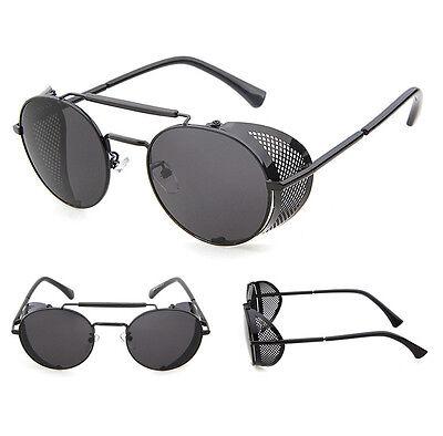 4435d980fc 2 of 12 2017 Vintage Polarized Steampunk Sunglasses Fashion Round Mirrored Retro  Eyewear