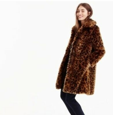 50e4c1dd0a5f5 ... NWT J Crew Faux Fur Leopard Print Coat Sz S Spotted G9553 SOLD OUT!