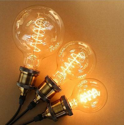 3 Of 12 E27 E14 B22 Vintage Retro Filament Edison Tungsten Light Bulb  Antique Style Lamp