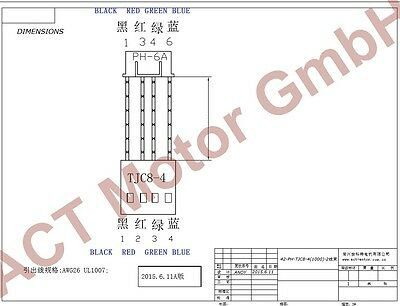 ACT Motor GmbH 1PC Nema17 Planetary Gearbox Schrittmotor 17HS4413AG5.18-X, 1.4A 3