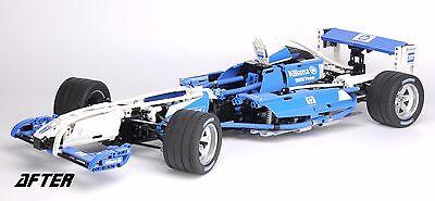 REPLACEMENT 'DIE CUT' STICKERS for Lego 8461 Williams F1 Team Racer + BONUS 8