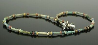Ancient Egyptian New Kingdom Faience Bead Necklace - 1700Bc   (201) 2