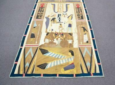 1920's LINEN EGYPTIAN REVIVAL WALL HANGING.OH024. Lot 123