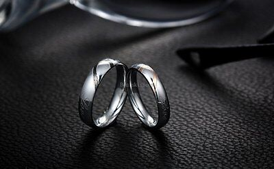 Couple Love Heart Stainless Steel Comfort Wedding Band Engagement Promise Ring 7