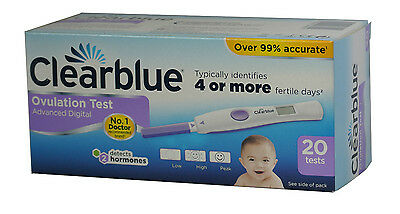 CLEARBLUE Advanced Digital Ovulation Test With Dual Hormone Indicator 20 Tests