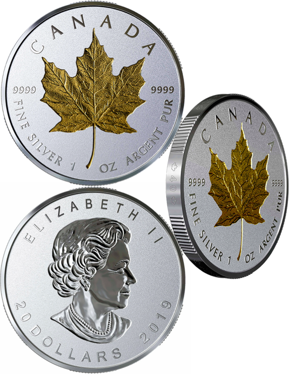 2019 40th Anniversary Gold Maple Leaf GML $20 1OZ Silver Proof Coin Canada 3