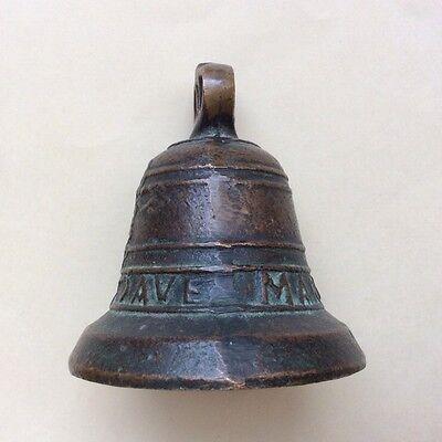 "RARE Antique 100+ Year Old Bronze Bell (Missing Part) ""1828 Maria Santonio Ave"""