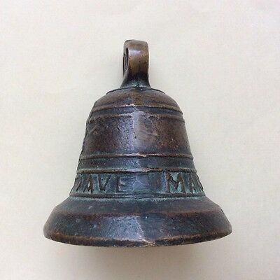 "RARE Antique 100+ Year Old Missing Bell Bronze Bell ""1828 Maria Santonio Ave"" 10"