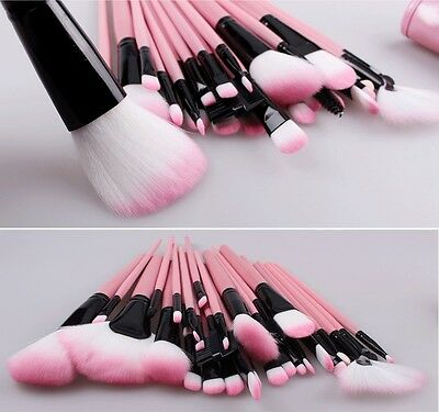 32tlg Make up Pinsel Rosa Professionelle brush Beauty Schminkpinsel kit+Pink Bag