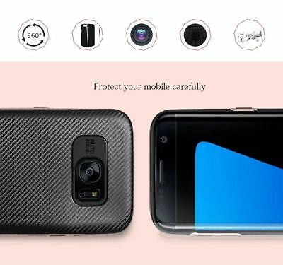 Luxury Carbon Fibre Case Silicone Protective Cover For Samsung Galaxy S6 S7 Edge 8