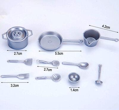 60pcs Mini Alloy Spoons Set 1//12 Dollhouse Tableware Pretend Play Toys Gold