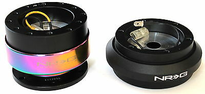 NRG SHORT HUB+GEN 2.5 QUICK RELEASE SILVER+IRIDIUM RING FOR CIVIC EH PRELUDE