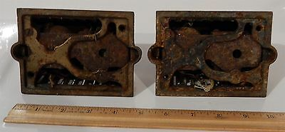 Pair of Antique Eastlake Victorian Cast Iron Doorbells 3