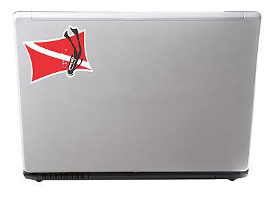 2 x 10cm Scuba Diving Flag Vinyl Decal Sticker iPad Laptop Diver Dive Gift #5581