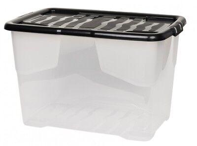 2 x Aufbewahrungsbox Box Kunststoffbox Lagerbox Regalbox mit Deckel stapelbar