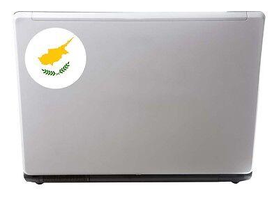 2 x Cyprus Flag Vinyl Sticker Travel Car Luggage #9154