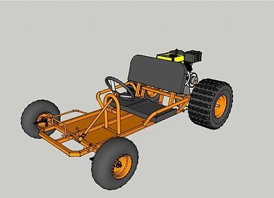 Go Kart Plans: Two Versions PDF Plan Bundle, Go Kart Build: Two Seat Go Kart 4