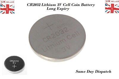 5X CR2032 Battery Lithium Coin Cell 3V Battery Brand New UK Seller Long Life Exp 3