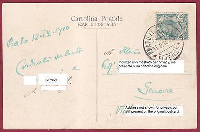 PRATO CITTÀ 27 HOTEL RISTORANTE G. CACIOTTI Cartolina viaggiata 1910