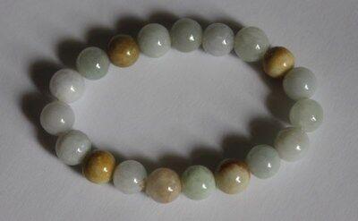 Gemstone 100% Natural Grade A JADE Jadeite Untreated Multi-Color Beads Bracelet 4