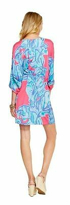 4d36524d992789 ... $238 Lilly Pulitzer Wilda Chic Pink Sway Floral Beaded Neck Caftan Dress  4