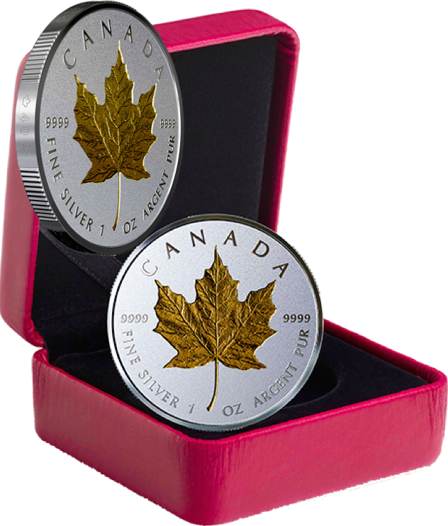 2019 40th Anniversary Gold Maple Leaf GML $20 1OZ Silver Proof Coin Canada 5