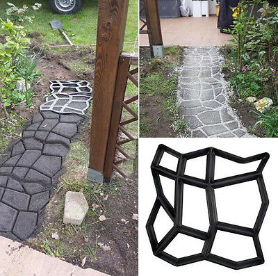 1 Of 12FREE Shipping Black Paving Mold Garden Patio Driveway Concrete  Stepping Stone Cement Molds Hot