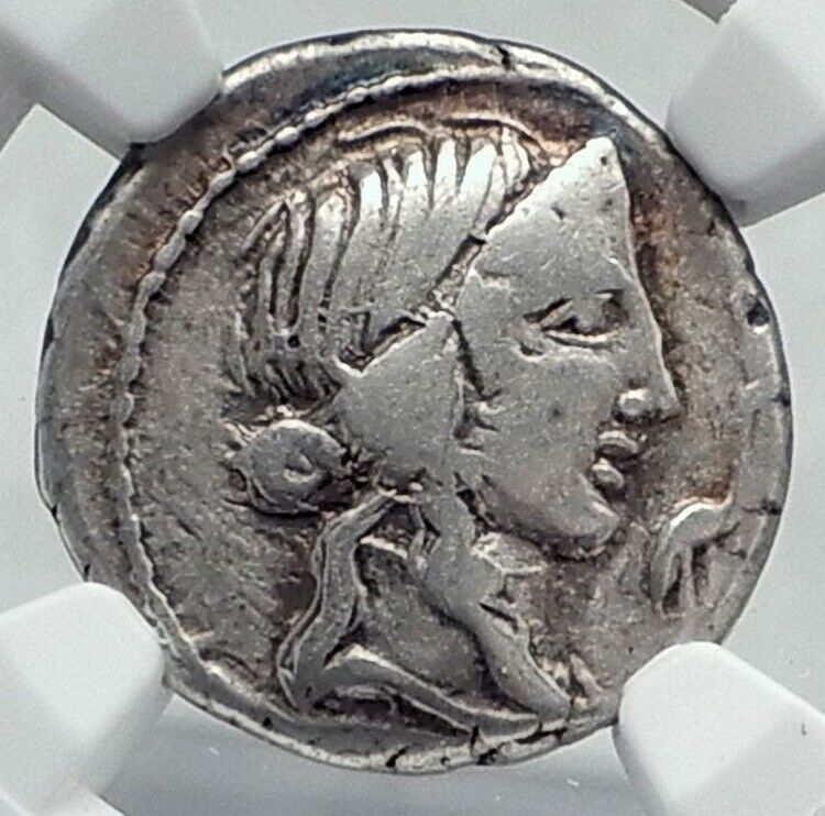 Roman Republic 81BC IMPERATOR GENERAL of DICTATOR SULLA Silver Coin NGC i81165 2
