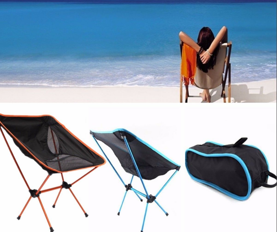 Folding Camping Chair Outdoor Hiking Ultra-light Portable Foldable Chairs HOT 3