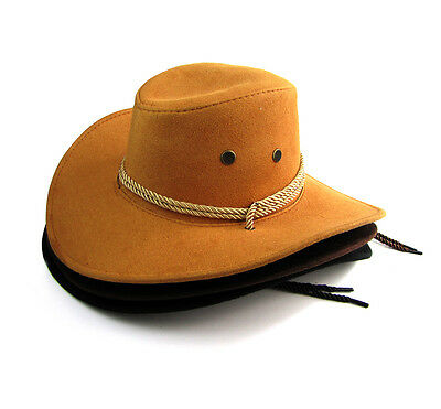 ... New Men Women Unisex Faux Leather American Cowboy Western Style Hats  Fancy Hat 2 91f979c00413