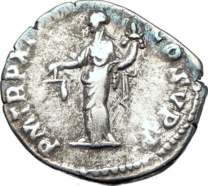 COMMODUS Marcus Aurelius son 185AD Ancient Silver Roman Coin Aequitas i73600 2