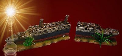 Sprudelnde Titanic Luftpumpe Zubehor Aquarium Deko Schiff Wrack Hohle Eur 36 94 Picclick De