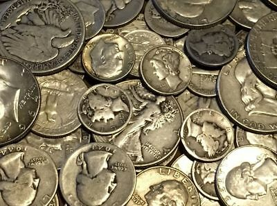 $1.00 Face Value 90% Silver Old US Coins Half Dollars Quarters Dimes
