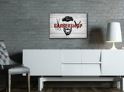 wall26 - Hair Style Canvas Wall Art - Cool Barbershop Concept - 32x48 inches 2