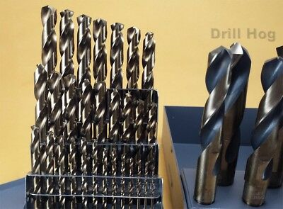 "Drill Hog USA 37 Pc Cobalt Drill Bit Set Index M42 1/16"" - 1"" Lifetime Warranty 2"