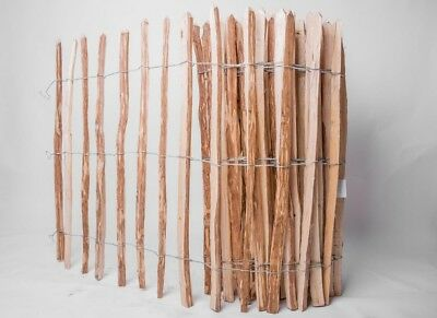 3-4cm V35 Staketenzaun Haselnuss Imprägniert Holzzaun Höhe 50cm Länge 5m Abst