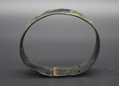 Ancient Bactrian bronze decorated bracelet C. 500 BC 8