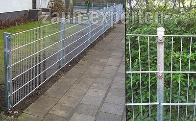 Zaun Set Komplett 50 Meter Verzinkt 143cm Gittermattenzaun Hohe