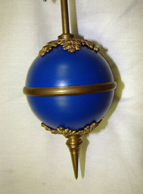 "24""H Cobalt Blue 4"" Ball 8 Day Swinger Movement Arm for Ansonia Swinging Clock"