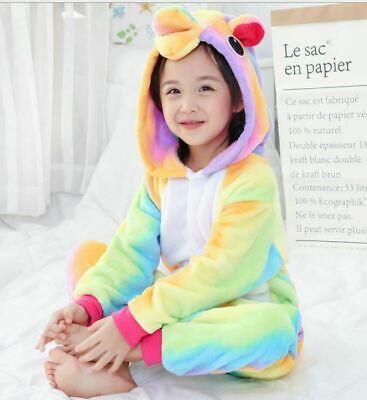 Adult/Child Unicorn Unisex Kigurumi Animal Cosplay Costume 1Onesie Pyjama UK 7