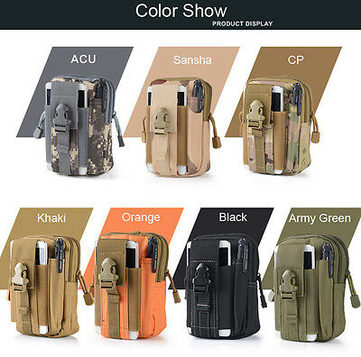 Tactical Molle Pouch Belt Waist Pack Bag Military Waist Fanny Pack Phone Pocket 3