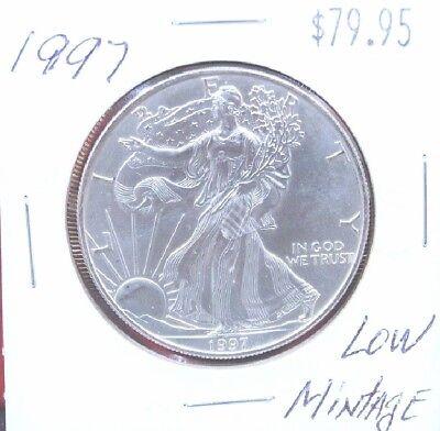 1997 Silver American Eagle BU Coin 1 oz $1 Dollar US Mint Uncirculated Brilliant 11