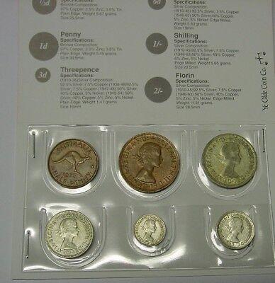 1958 Australian Coin Set in folder, nice 61st birth year gift! Read seller notes