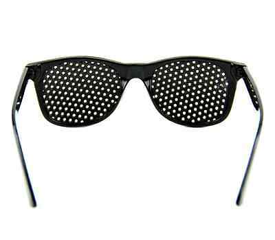 Black Eyesight Improve Pinhole Glasses Stenopeic Eyeglasses Sunglasses IL 3