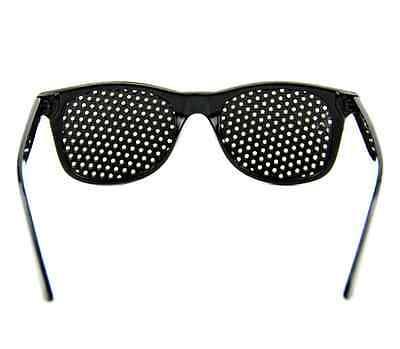 Hot Black Eyesight Improve Anti-fatigue Vision Care Stenopeic Pinhole Glasses PS 3