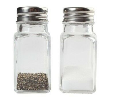 Glass Salt and Pepper Shakers Jar Set (2 Shakers)