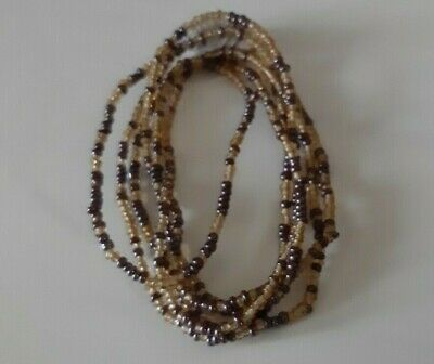 Authentic African Waist Beads Handmade from Recycled Glass Vegan