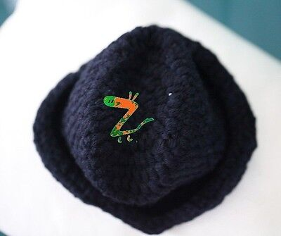 227a73e490600 ... HANDMADE Newborn Baby Boy Crochet Knit Fedora Hat   Ginger Yellow   Photo Prop 4